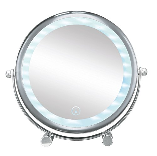 Kleine Wolke Spiegel Bright Shorty freistehend Rund Chrom (LED)