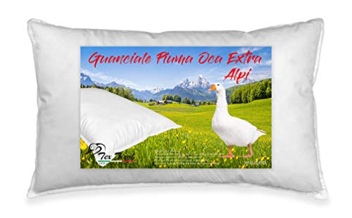 GUANCIALE Piuma Piumino Oca Tex Tirol  Alpi Made in Italy