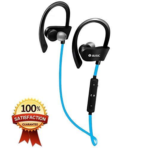 DAMIGRAM Auriculares Inalámbricos Bluetooth, Auriculares Deportivos Ligeros con Micrófono y Cancelación de Ruido y Impermeables para iPhone, Android, Tabletas, Ordenadores (Blue)