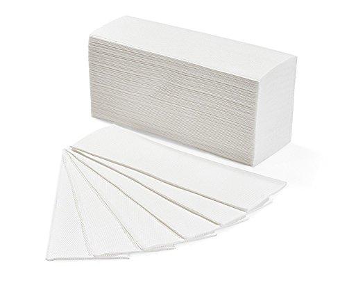 Asciugamani di carta piegati a Z monouso (anche per dispenser a C) - 50 pacchetti da 150 salviette - 7.500 salviette totali - Qualità Byness