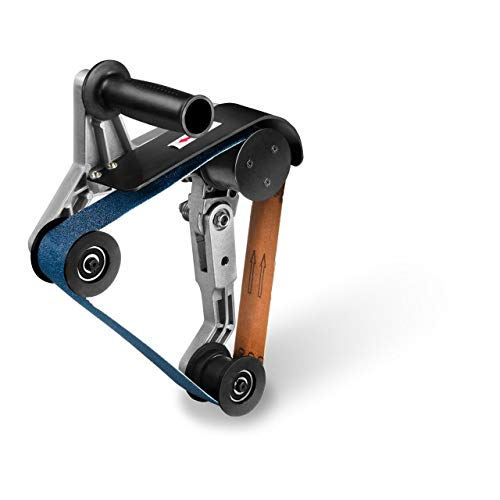 MSW Rohrbandschleifer Rohrschleifer Bandschleifer Aufsatz MSW-POLM14 (Gewinde: M14, Schleifwinkel: 270°, Größe des Schleifbandes: 40 x 760 mm, Körnung: P60, schneller Wechsel)