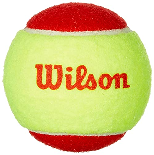 Wilson WRT137001 Palline da Tennis Starter Red, per Bambini, Giallo Rosso, Confezione da 3