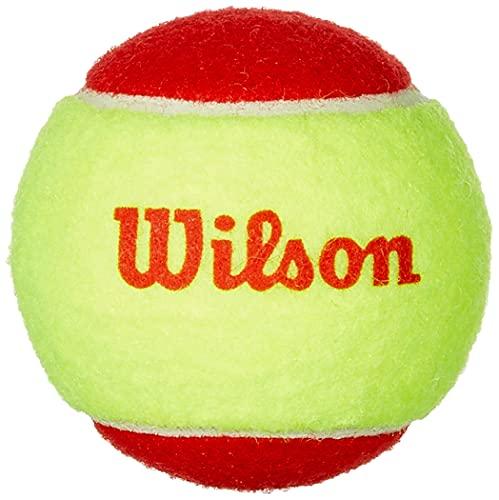 Wilson WRT137001 Palline da Tennis Starter Red, per Bambini, Giallo/Rosso, Confezione da 3
