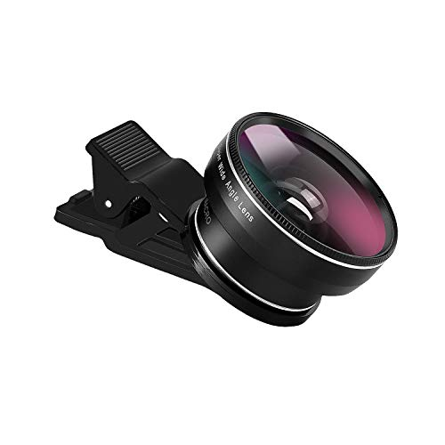 Phone Camera Lens, Zecti Lens Kit for iPhone, Samsung, Pixel, Macro and Wide Angle Lens with Lens Clip and Carrying Pouch