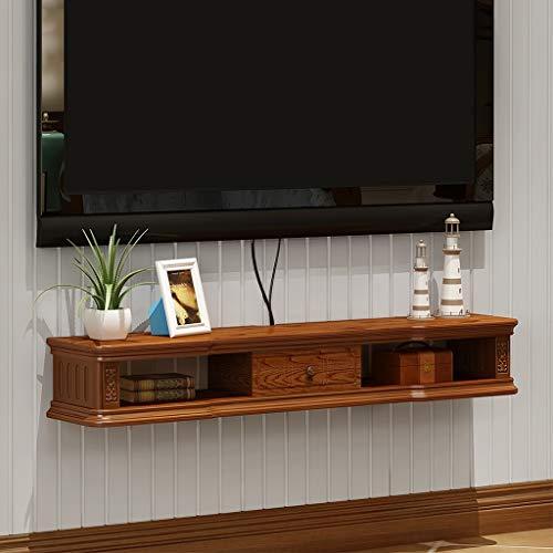 Muur gemonteerde TV kast plank High-end Locker Europese Stijl Opslag Rack Router Box Plank Media Console Drijvende TV Set Top Box Moderne Meubels