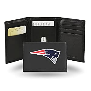NFL Rico Industries Embroidered Leather Trifold Wallet, New England Patriots