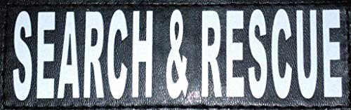Doggie Stylz Set of 2 Reflective Search & Rescue Patches for Service Dog Harnesses & Vests. (Medium 4' X 1.5')
