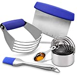 Pastry Cutter Set, EAGMAK Pastry Scraper and Dough Blender, Stainless Steel Dough Cutter S...