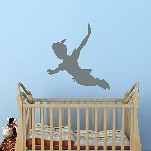 Tianpengyuanshuai Fliegender Schatten Wandtattoo Vinyl Aufkleber Silhouette Fantasie Fee Wand Kinderzimmer-43X43cm