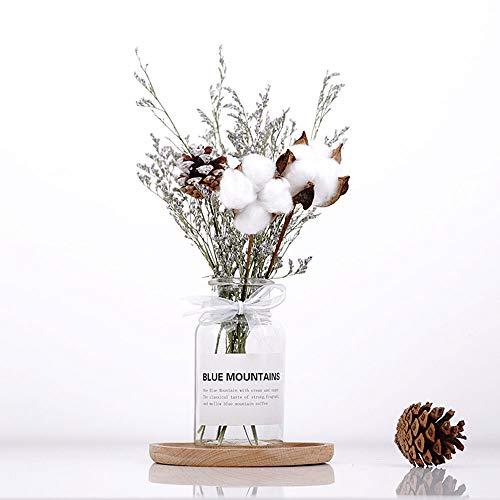 SKAISK Florero de Flores secas romanticas Flor Seca secas Decoracion para el hogar Cono de Pino Exquisito Adorno de Vidrio en Forma de florero