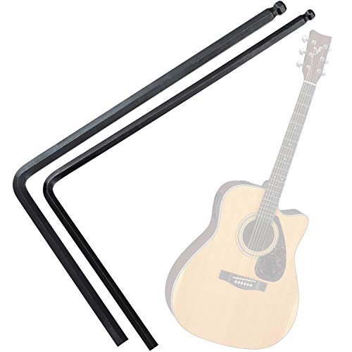PAGOW 4mm / 5mm Guitar Truss Rod Wrench, Ball End Allen Wrench Tool for Martin Acoustic Guitar, Truss Rod Adjustment for Deep or Narrow Truss Adjustment (Black)