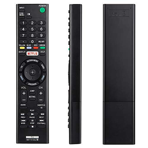 YOSUN RMT-TX100U Universal Remote Control for Sony-TV-Remote All Sony LCD LED HDTV Smart bravia TVs with Netflix Buttons