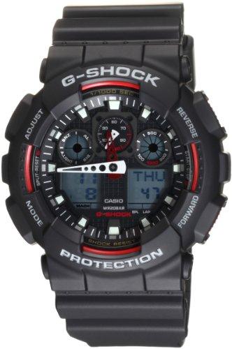 Casio GA-100-1A4 - Reloj (Reloj de Pulsera, Masculino, Polímero, Negro, Rojo, Polímero, Negro)
