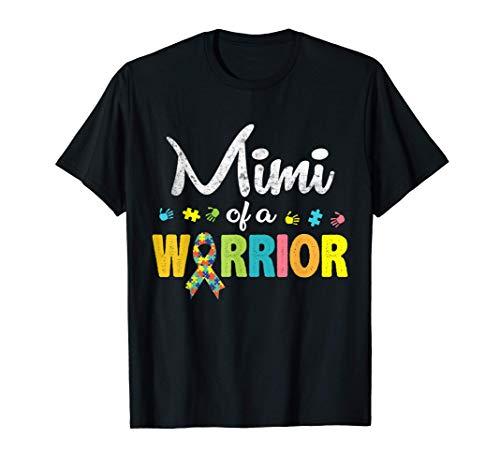 Mimi of a Warrior Autism Awareness I'm A Proud Grandmother T-Shirt