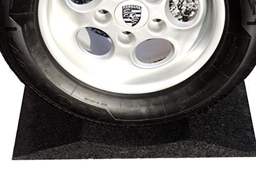 Swoboda Fahrzeugkultur 4 Stück Reifenschuh, Reifenwiege, Reifenschoner, Reifenbett 400mm breit 17-22 Zoll Gummi