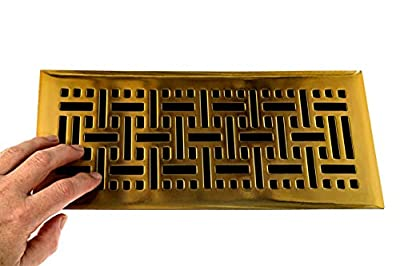 """5.5"""" x 12 """" Extra Magnetic Floor Vent Covers Stronger Magnet for Floor Air Registers for RV, Home HVAC, AC and Furnace Vents (Not for Ceiling Vents)"""