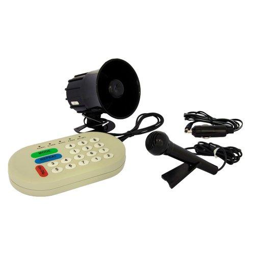Autostyle Rainbow Signaalhoorn, 49 geluiden, microfoon, MP3-aansluiting, USB-poort
