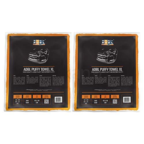 Preisvergleich Produktbild 2x ADBL Puffy Towel XL Premium Mikrofasertuch Polier- & Trockentuch 60x90cm 840 GSM