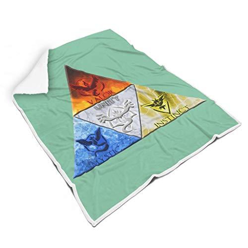 NC83 deken driehoek Zelda design druk lichtgewicht oversized Throws Wrap Robe - Coole kleur zacht warm past volwassenen vrouwen te gebruiken