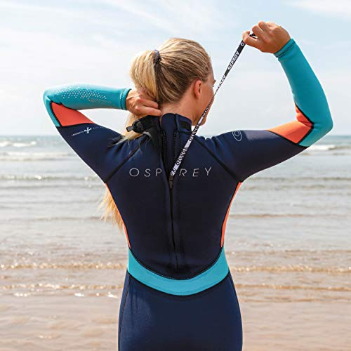 Osprey Women's Full Length 3 mm Summer Wetsuit, Adult Neoprene Surfing Diving Wetsuit, Zero, Coral, X-Small
