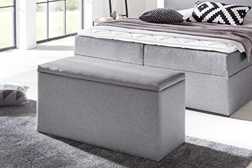 Furniture for Friends Möbelfreude® Bettbox Nelli Hellgrau | Aufbewahrungsbox für Boxspringbetten und Polsterbetten | Sitztruhe 100 x 40 x 51 cm