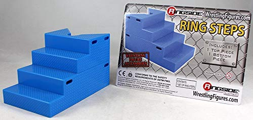 Wrestling Ring Steps (Blue) - Ringside Collectibles Exclusive WWE Toy Action Figure Accessory