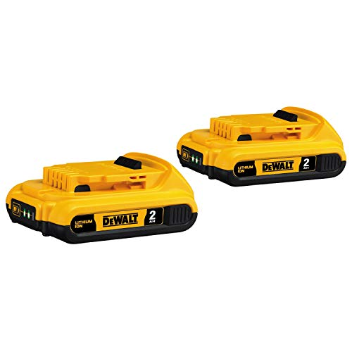 DEWALT 20V MAX Battery, Compact 2.0Ah Double Pack (DCB203-2), Yellow