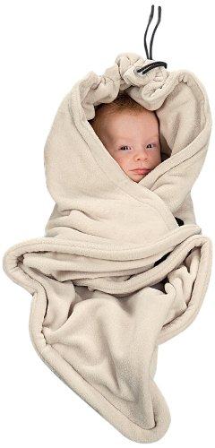 HOPPEDIZ® Einschlagdecke CREME aus Fleece für 3 & 5 Punkt Gurtsysteme