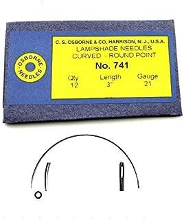 C.S. Osborne Curved Lampshade Needles #741, Size 3