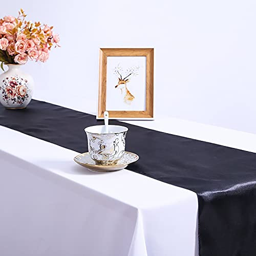 Poachers Pack Of 1 Satin Table Runners for Birthday Parties Banquets Home Decorations 12'x108'inch Chair Sashes Swags Wedding Party Table Decoration