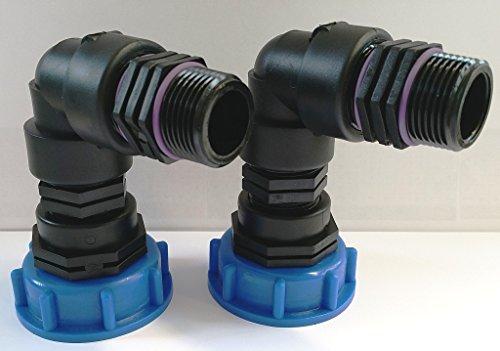 2 x CM290828482 kappenverschraubungen s60 4 x 6 x raccord double avec iG et 90° 1 (- conteneur iBC-adaptateur-fitting-cANISTER