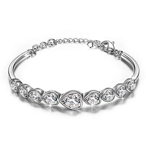 PAULINE & MORGEN regali san valentino per lei braccialetti donna cristallo swarovski braccialetti luminosi per feste braccialetti amicizia bracciale originale regalo mamma idee regalo per anniversario