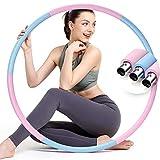 colorfarm Aro de ejercicio con peso TIK Tok para pérdida de peso, diseño desmontable, 6 secciones, tubo de acero inoxidable, equipo de entrenamiento para mujeres y hombres