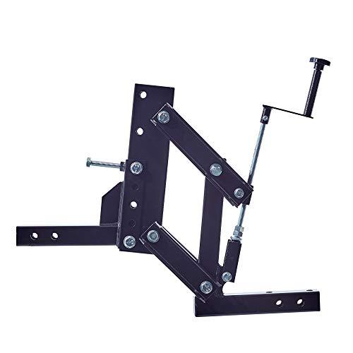 1-Point Lift System for ATV/UTV with 2 inch Receivers ATV Implement Attachment System Outdoors Landscape Rake mount ATV/UTV Farm Attachments