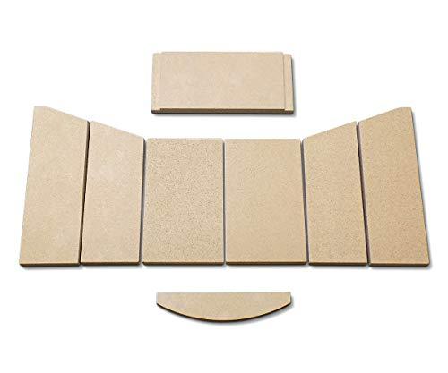 Feuerraumauskleidung A für Hark 57 Kaminöfen - Vermiculite - 8-teilig