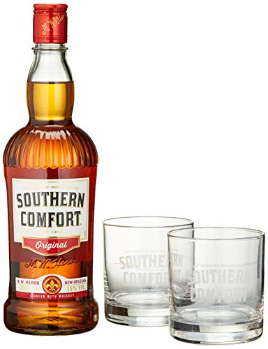 Southern Comfort Original inkl. Gläser und Kühlwürfel (1 x 0.7 l)