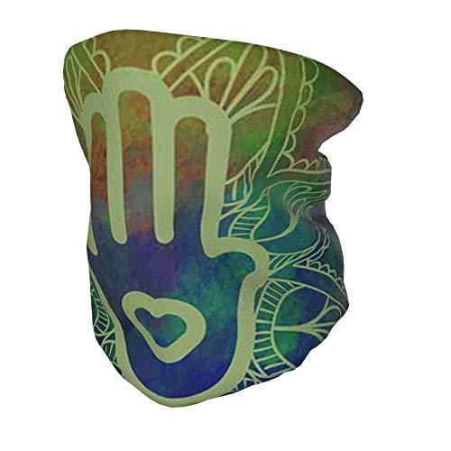 Pañuelo para la cabeza para niños, bufanda, polaina para el cuello, Fátima, mano de Hamsa, mandala, loto, niños, diadema