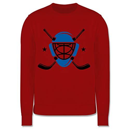 Sport Kind - Eishockeyschläger Helm - 140 (9/11 Jahre) - Rot - Sport - JH030K - Kinder Pullover