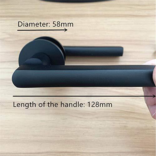 Piero moderne stijl aluminium matzwarte deurklink DEURKNOP MET SLOT Sleutels DEUR Trek Hardware Meubels, matzwart