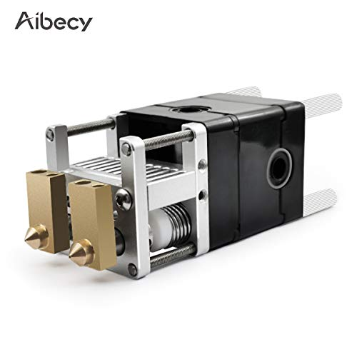 Leepesx Aibecy UM2 Dual Print Head Extruder Full Kit with 0.4mm Brass Nozzle for 1.75mm Filament Compatible with Ultimaker2 DIY Model 3D Printer