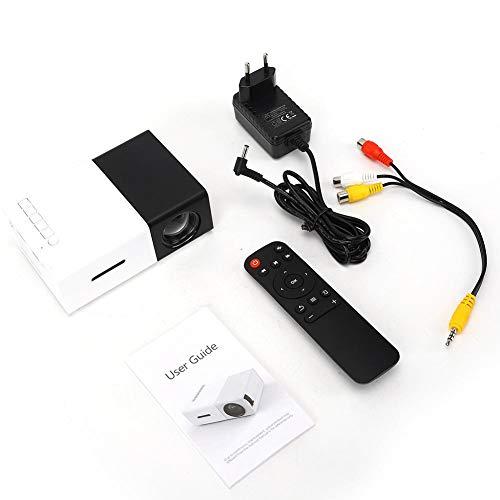 Mini proyector, proyector de video LED portátil Mini portátil...