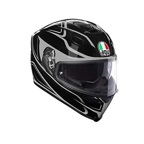 AGV Casco Moto Integral K-5S AGV E2205Multi plk, Negro Magnitude/Silver, Talla L