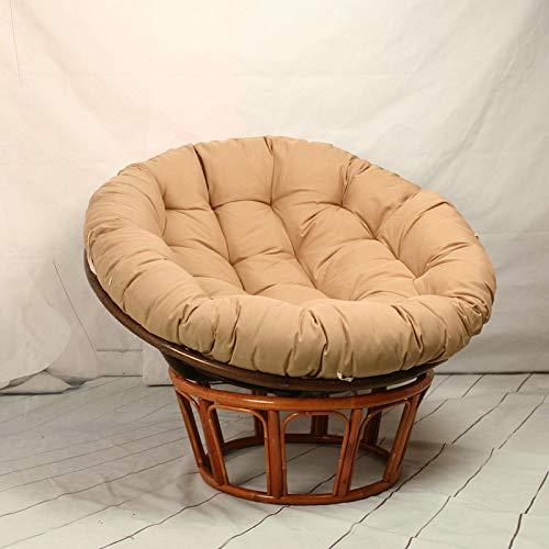 HAOCHI Große Runde Papasan Stuhl Kissen,Verdicken Swing Chair Kissen Für Außen,Wicker Rattan Hängendes Korb Sitzkissen Einest Ersatz-pad