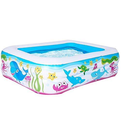 ZLBIN Schwimmbad Kinder | Kinder Aufstellpool Planschbecken | Kinderpool Aufblasbar Klein | Schwimmbecken Kinder | Pool Farbe,130 * 92 * 52cmprintedthree-ringpool