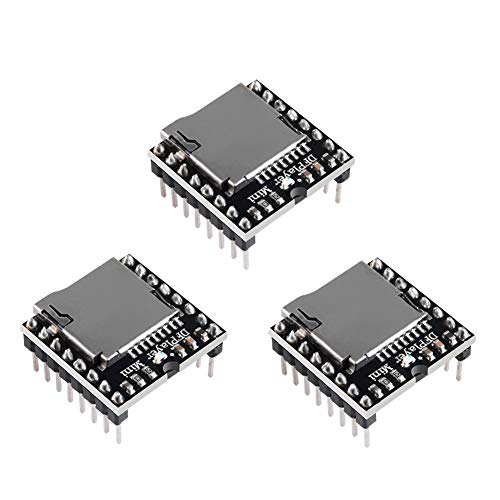 3PCS Mini MP3 Player Audio Module MP3 Voice Decode Board TF Card U Disk IO/Serial Port/AD Board DFPlayer Audio Voice Music Module for Arduino