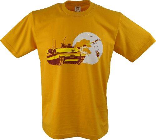 Guru-Shop Fun T-Shirt, Herren, Panzer Schaukel, Baumwolle, Size:L, Rundhals Kurzarm Shirt Alternative Bekleidung