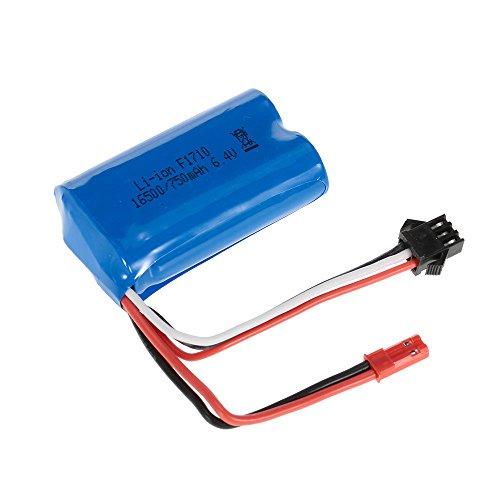 Goolsky - Batería recargable de iones de litio de 6,4 V, 750 mAh para coche de Buggy RC WLtoys A959-A A979-A