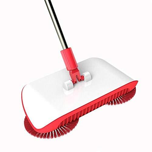 SYLZBHD Handkehrer aus Kunststoff für Büro, Teppich-Werkzeuge, Staubsauger, Handfeger, Staub, Aspirador, Haushaltswaren, Teppich-Staubsauger (rot)