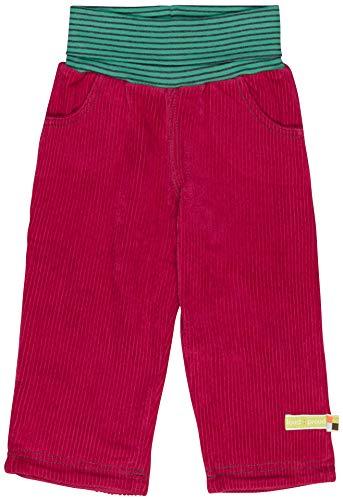 loud + proud Mädchen Elastische Cord Bio Baumwolle, GOTS Zertifiziert Hose, Rosa (Berry Ber), 80 (Herstellergröße: 74/80)