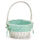 Dibsies Colorful Dots Easter Basket (Teal Unpersonalized)